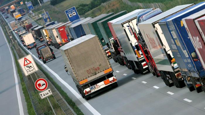 Lorries head for East Europe